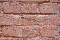 Fragmento de una pared de ladrillo rosada Imagenes de archivo