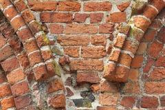 Fragmento de una pared Románica Foto de archivo