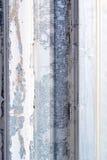 Fragmento de una pared vieja del metal Imagen de archivo libre de regalías