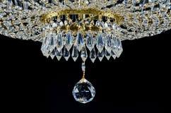 Fragmento de vidro contemporâneo do candelabro Foto de Stock