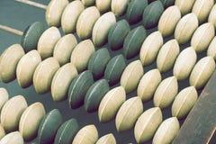 Fragmento del ábaco del vintage Imagen de archivo