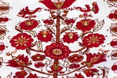 Fragmento del bordado ucraniano tradicional Fotografía de archivo libre de regalías