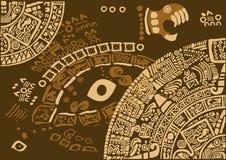 Fragmento del calendario de civilizaciones antiguas Imagen de archivo