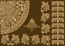 Fragmento del calendario de civilizaciones antiguas Imagen de archivo libre de regalías