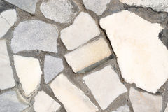 fragmento del camino de piedra Imagen de archivo