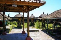 Fragmento del edificio en estilo auténtico Arquitectura antigua de Indonesia imagen de archivo libre de regalías