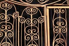 Fragmento del enrejado de la puerta del metal Imágenes de archivo libres de regalías