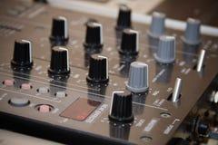 Fragmento del equipo profesional de DJ Imagen de archivo libre de regalías
