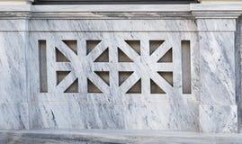 Fragmento del final de mármol gris Fotos de archivo