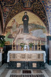 Fragmento del interior de la iglesia de Santo Sepulcro en Jerusalén, Israel Fotografía de archivo libre de regalías