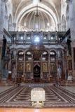 Fragmento del interior de la iglesia de Santo Sepulcro en Jerusalén, Israel Fotos de archivo libres de regalías