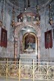 Fragmento del interior de la iglesia de Santo Sepulcro en Jerusalén, Israel Imagen de archivo