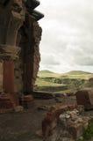 Fragmento del Katerdrali armenio en Turquía en la frontera con Armenia Fotos de archivo