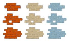 Fragmento del ladrillo ilustración del vector