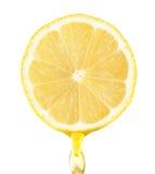 Fragmento del limón con Foto de archivo libre de regalías