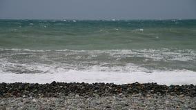Fragmento del Mar Negro durante la tormenta almacen de video