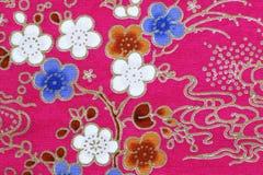 Fragmento del modelo retro colorido de la materia textil de la tapicería Fotografía de archivo libre de regalías