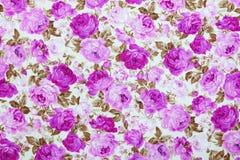 Fragmento del modelo retro colorido de la materia textil de la tapicería con floral Fotografía de archivo libre de regalías