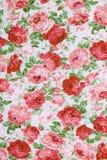 Fragmento del modelo retro colorido de la materia textil de la tapicería con floral Imágenes de archivo libres de regalías