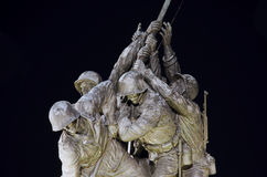 Fragmento del monumento de Iwo Jima Fotografía de archivo