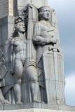 Fragmento del monumento de la libertad en Riga, Letonia fotos de archivo