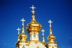 Fragmento del palacio de Peterhof Foto de archivo
