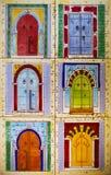 Fragmento del panel tejado de cerámica con el MES floral y arquitectónico Imágenes de archivo libres de regalías