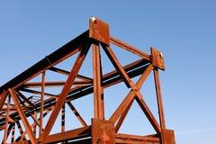 Fragmento del pilar oxidado del metal Fotografía de archivo libre de regalías