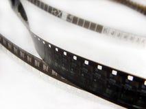 Fragmento del primer de la tira de la película imagen de archivo libre de regalías