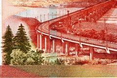 Fragmento do dinheiro novo do russo Fotografia de Stock