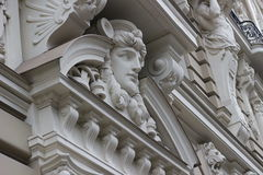 Fragmento do estilo Jugenstil de Art Nouveau Fotografia de Stock Royalty Free