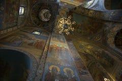 Fragmento do interior da abóbada da catedral de Kazan em St Petersburg Imagens de Stock