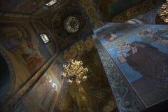 Fragmento do interior da abóbada da catedral de Kazan em St Petersburg Foto de Stock