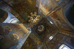 Fragmento do interior da abóbada da catedral de Kazan em St Petersburg Imagens de Stock Royalty Free