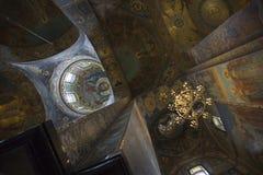 Fragmento do interior da abóbada da catedral de Kazan em St Petersburg Fotografia de Stock