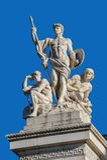 Fragmento do monumento II de Vittorio Emanuele em Roma Fotografia de Stock