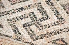 Fragmento do mosaico antigo em Kourion, Chipre Fotos de Stock Royalty Free