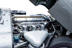 Fragmento do motor de automóveis dos esportes Foto de Stock Royalty Free