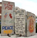 Fragmento do muro de Berlim Foto de Stock