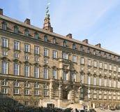 Fragmento do palácio de Christianborg, a residência anterior dos reis dinamarqueses, Copenhaga, Dinamarca imagem de stock