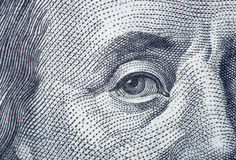 Fragmento do retrato de Benjamin Franklin Fotografia de Stock