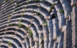 Fragmento do teatro de Ephesus Fotografia de Stock