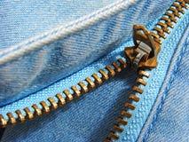 Fragmento do Zipper Foto de Stock Royalty Free