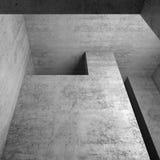 Fragmento interior concreto vazio abstrato, 3d Imagens de Stock Royalty Free