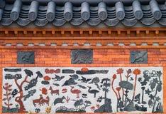 Fragmento ornamental de la pared imagen de archivo