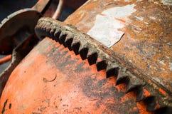 Fragmento portátil da engrenagem do misturador concreto Foto de Stock Royalty Free