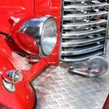 Fragmento retro del coche de bomberos Imágenes de archivo libres de regalías
