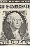 Fragmento un billete de banco del dólar Imagen de archivo libre de regalías