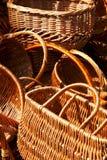 Fragmentos da cesta de vime vazia Fotografia de Stock Royalty Free