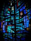 Fragmentos de la decoración del arco iris de la ventana de cristal imagenes de archivo